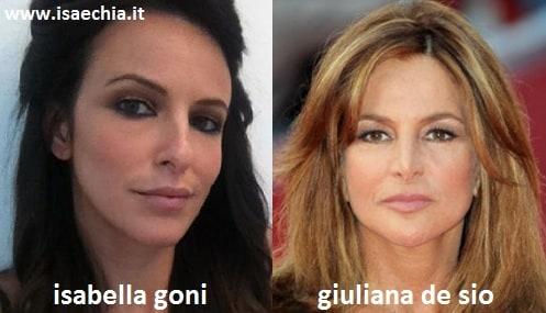 Somiglianza tra Isabella Goni e Giuliana De Sio