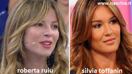 Somiglianza tra Roberta Ruiu e Silvia Toffanin
