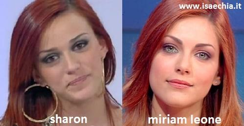 Somiglianza tra Sharon, corteggiatrice di Francesco Monte, e Miriam Leone