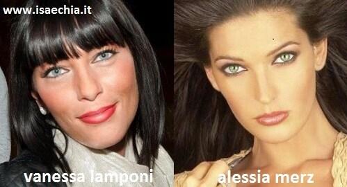 Somiglianza tra Vanessa Lamponi e Alessia Merz