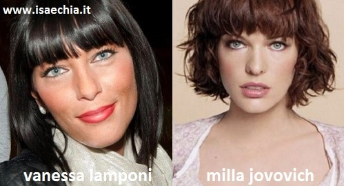 Somiglianza tra Vanessa Lamponi e Milla Jovovich