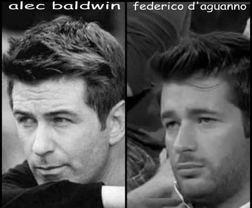 Somiglianza tra Federico D'Aguanno e Alec Baldwin