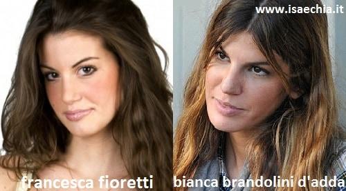 Somiglianza tra Francesca Fioretti e Bianca Brandolini D'Adda