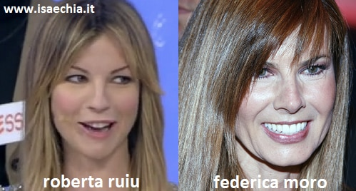 Somiglianza tra Roberta Ruiu e Federica Moro