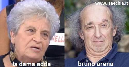 Somiglianza tra la dama Edda e Bruno Arena