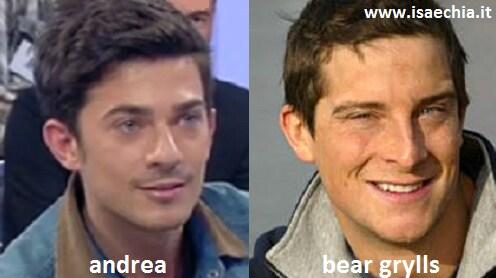 Somiglianza tra Andrea del Trono under e Bear Grylls