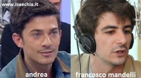Somiglianza tra Andrea del Trono under e Francesco Mandelli