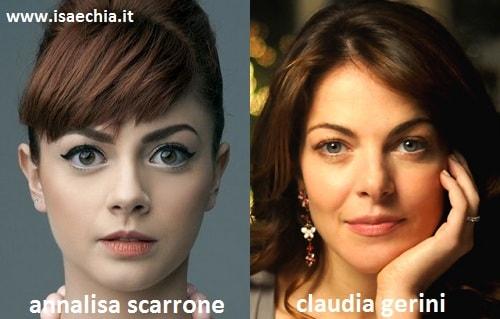 Somiglianza tra Annalisa Scarrone e Claudia Gerini