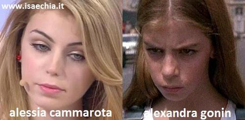 Somiglianza tra Alessia Cammarota e Alexandra Gonin