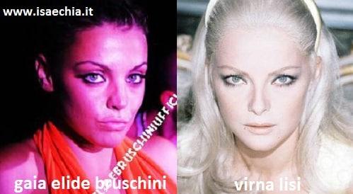 Somiglianza tra Gaia Elide Bruschini e Virna Lisi