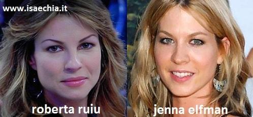 Somiglianza tra Roberta Ruiu e Jenna Elfman