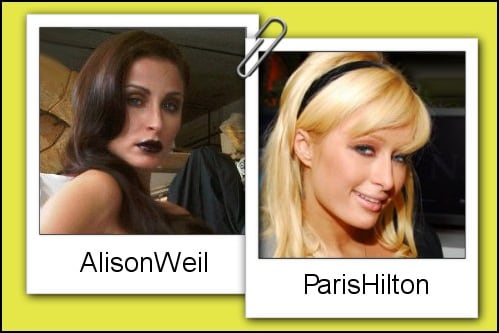 Somiglianza tra Alison Weil e Paris Hilton