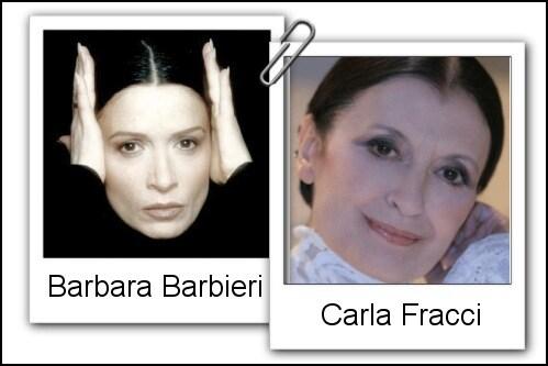 Somiglianza tra Barbara Barbieri e Carla Fracci