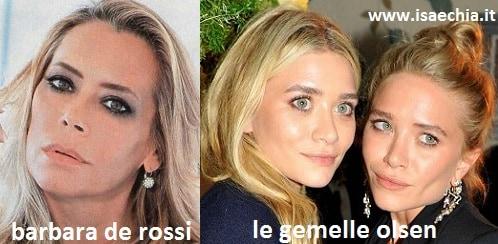 Somiglianza tra Barbara De Rossi e le gemelle Olsen