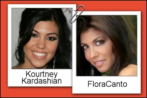 Somiglianza tra Flora Canto e Kourtney Kardashian
