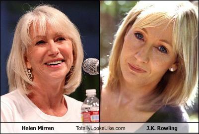 Somiglianza tra Helen Mirren e J. K. Rowling