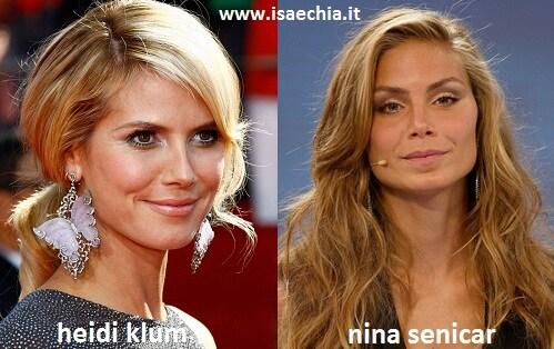 Somiglianza tra Nina Senicar e Heidi Klum