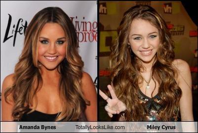 Somiglianza tra Amanda Bynes e Miley Cyrus