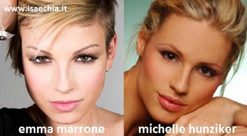 Somiglianza tra Emma Marrone e Michelle Hunziker