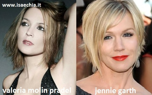 Somiglianza tra Valeria Molin Pradel e Jennie Garth