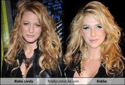 Somiglianza tra Blake Lively e Ke$ha