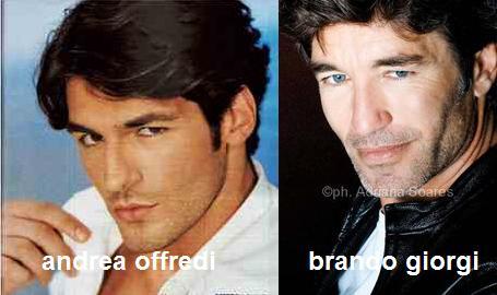 Somiglianza tra Andrea Offredi e Brando Giorgi