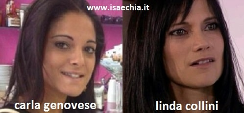 Somiglianza tra Carla Genovese e Linda Collini