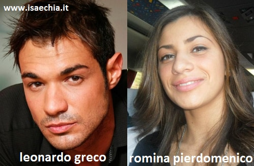 Somiglianza tra Leonardo Greco e Romina Pierdomenico