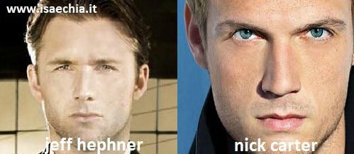 Somiglianza tra Nick Carter e Jeff Hephner