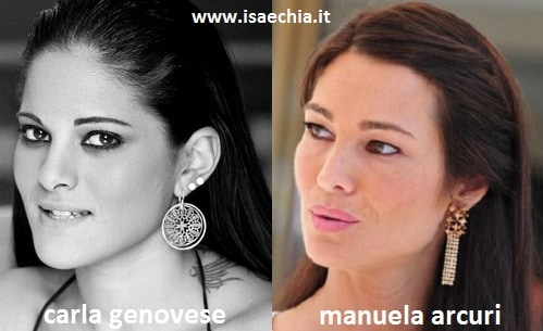 Somiglianza tra Carla Genovese e Manuela Arcuri