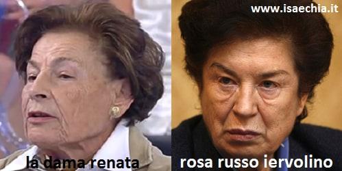 Somiglianza tra la dama Renata e Rosa Russo Iervolino