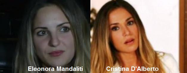 Somiglianza tra Eleonora Mandaliti e Cristina D'Alberto
