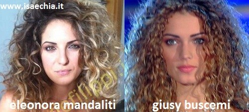 Somiglianza tra Eleonora Mandaliti e Giusy Buscemi