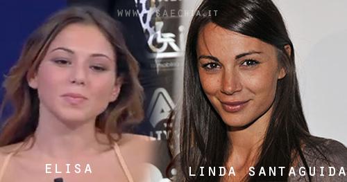Somiglianza tra Elisa e Linda Santaguida