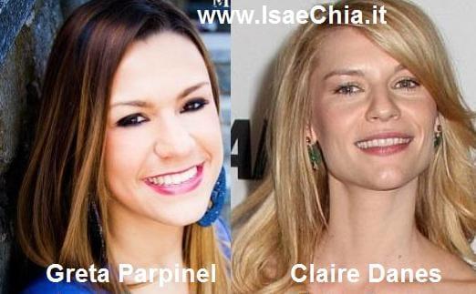 Somiglianza tra Greta Parpinel e Claire Danes