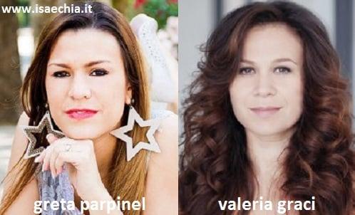 Somiglianza tra Greta Parpinel e Valeria Graci