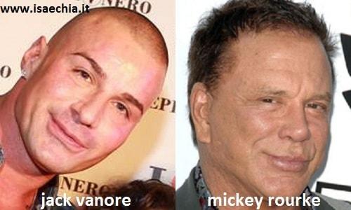 Somiglianza tra Jack Vanore e Mickey Rourke