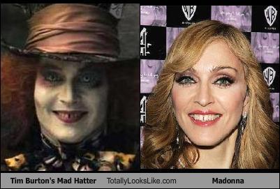 Somiglianza tra Madonna e il Cappellaio Matto