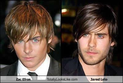 Somiglianza tra Zac Efron e Jared Leto