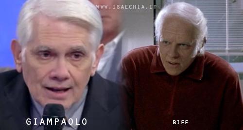 Somiglianza tra il cavaliere Giampaolo e Biff di 'Ritorno al futuro'
