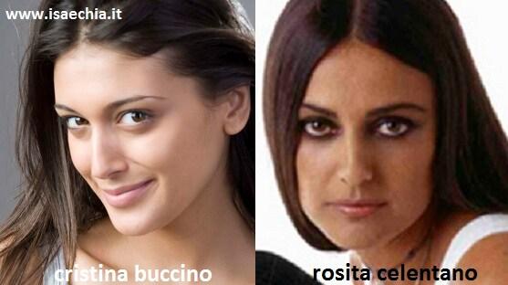 Somiglianza tra Cristina Buccino e Rosita Celentano