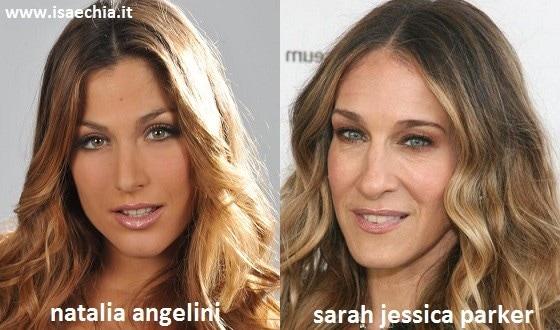Somiglianza tra Natalia Angelini e Sarah Jessica Parker