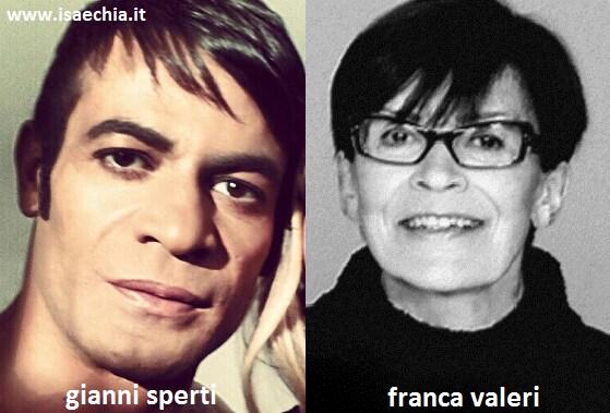 Somiglianza tra Gianni Sperti e Franca Valeri