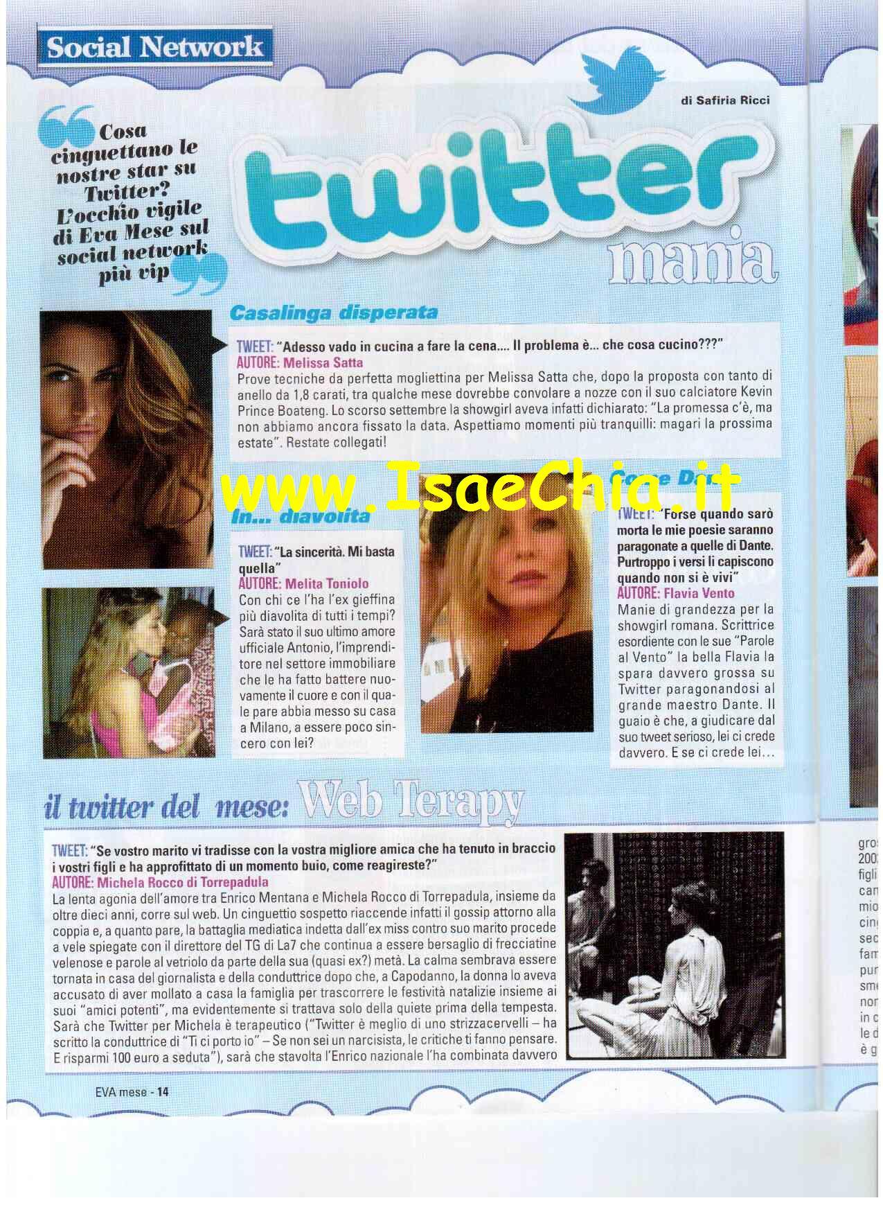 Twitter Mania - Flavia Vento come Dante, Alessia Marcuzzi mammina  premurosa...