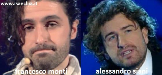 Somiglianza tra Francesco Monti e Alessandro Siani