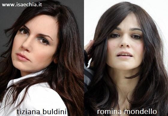 Somiglianza tra Tiziana Buldini e Romina Mondello