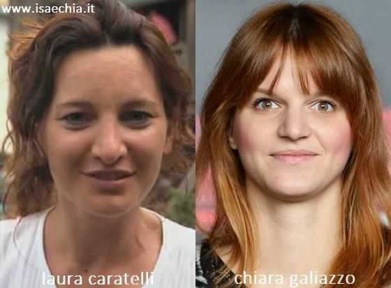 Somiglianza tra Laura Caratelli e Chiara Galiazzo