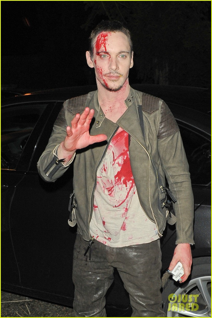 Jonathan Rhys Meyers looks bloody for Halloween **USA ONLY**