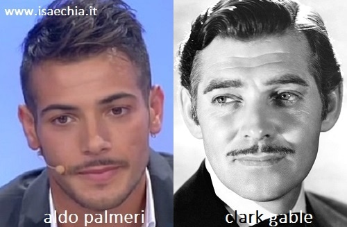 Somiglianza tra Aldo Palmeri e Clark Gable