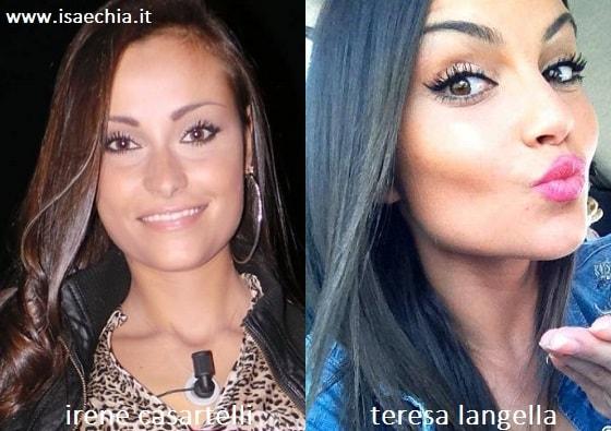 Somiglianza tra Irene Casartelli e Teresa Langella
